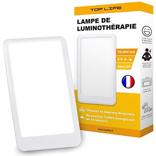 Tageslichtlampe 10000 Lux - Trotzen Sie Depression mit dieser kompakte Lichttherapielampe - Lichtlampe Gegen die saisonal abhängige Depression (SAD)