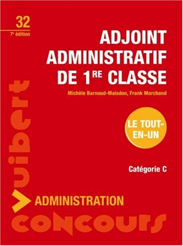 Adjoint administratif de 1e classe