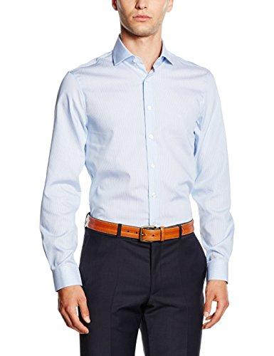 Calvin Klein Rome Fitted Fec, Camicia Uomo, Blu (Blue 400), 38