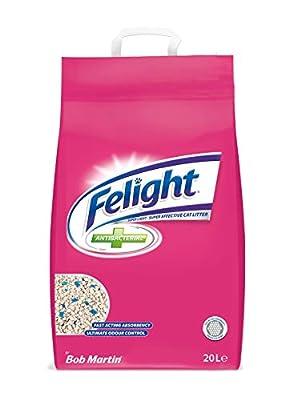 Felight Anti-Bacterial Cat Litter Easy Tear, 20 Litre by BOB MARTIN (UK) LTD