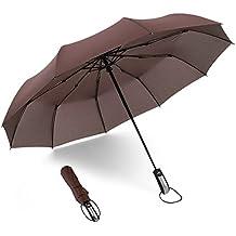 Paraguas 8 Costillas Antiviento Paraguas de Gran Tamaño Abrirá Automáticamente Clásico A PRUEBA ...