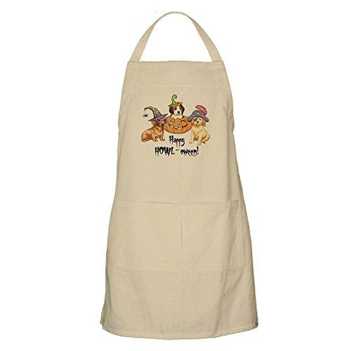 oween Welpen BBQ–Küche Schürze mit Taschen khaki (Trick Or Treat Lustige Hunde Halloween)