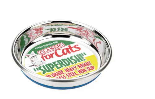 Classic Pet Products Classic Steel Superdish for Cats, Small, 250 ml