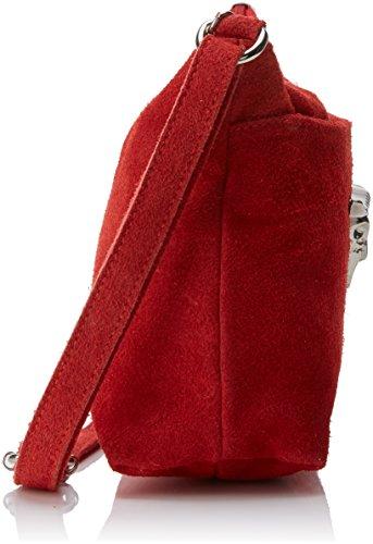 Chicca Borse 8650, Borsa a Spalla Donna, 29x17x8 cm (W x H x L) Rosso (Red)