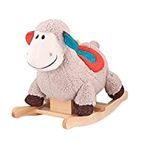 YUMEIGE Rocking Horses Kid Riding Toys/sheep、Wood+PP Cotton,Boy girl Rocking Animal Indoor Outdoor Toys/Swing Toys、Rocking Horse for 18 Months-4 Years,Children