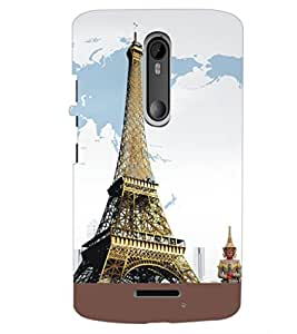 PrintDhaba Tower D-5430 Back Case Cover for MOTOROLA MOTO X3 (Multi-Coloured)