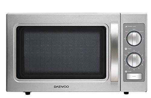 Daewoo KOM-9P35B - Microondas profesional, 29 litros, manual, inoxidable