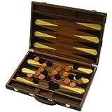 Backgammon luxe bois grand à encoches (45 x 30,5 cm plié)