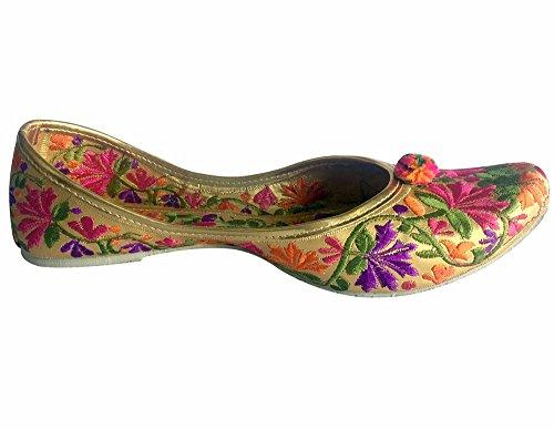 Style n Step Punjabi Jutti scarpe Wedding Shoes-Scarpe Khussa Mojari sari Jooti Multicolore (multicolore)