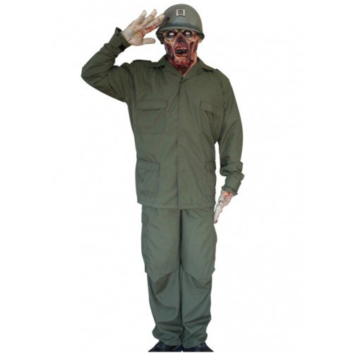 Mask & Costume Zombie Soldier - Space Pirate Kostüm