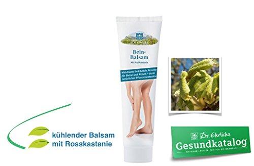 Dr. Ehrlichs Beinbalsam mit Rosskastanie - kühle frische Bein- und Venen-Creme - für geschwollene Beine und Füße
