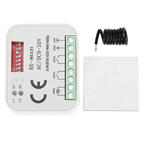Duokon - Receptor de Control Remoto para Puerta de Garaje de plástico Universal SMG-662MRX BFT FAAC Sommer 300-900 MHz