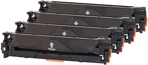TONER EXPERTE® 4 Toner kompatibel zu HP CB540A CB541A CB542A CB543A 125A für HP Color Laserjet CM1312 CM1312nf CM1312nfi CP1215 CP1217 CP1514n CP1515n CP1518ni (Schwarz: 2400 & Colours: 1800 Seiten) (Hp Cp1215 Drucker)