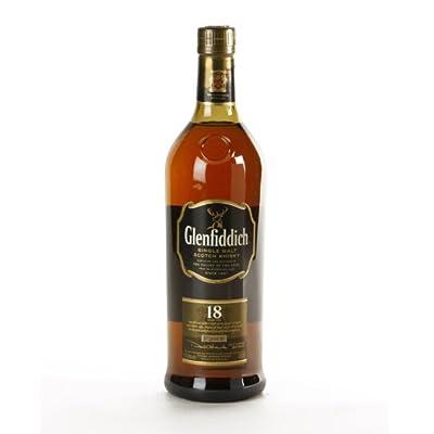 Glenfiddich 18 Year Old Single Malt Scotch Whisky 70cl Bottle x 3 Pack