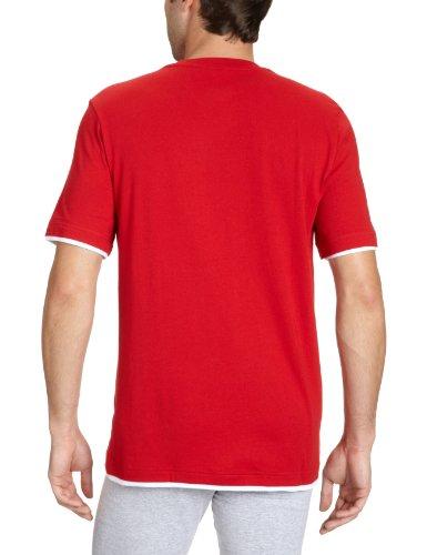 adidas, Maglietta uomo Core 11 Maglietta Multicolore (university red/white)