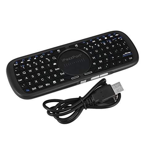 Kurphy Portable Mini Wireless Keyboard 2.4G für PC Android Smart TV Box mit LED-Licht Handheld Keyboard für Tablet