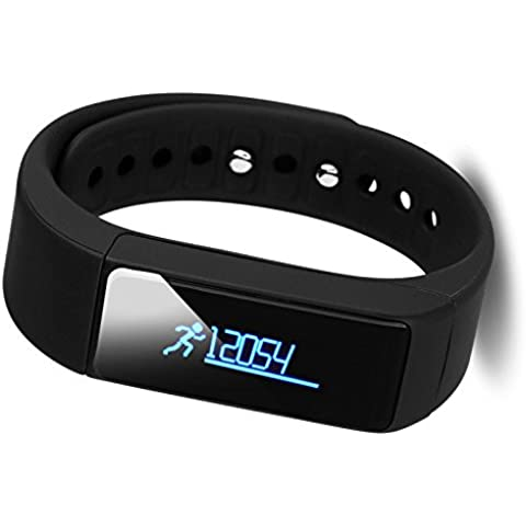 ROGUCI SmartWatch podómetro deportes Control de actividad de fitness pulsera Control de actividad registro de sueño para Android y iPhone