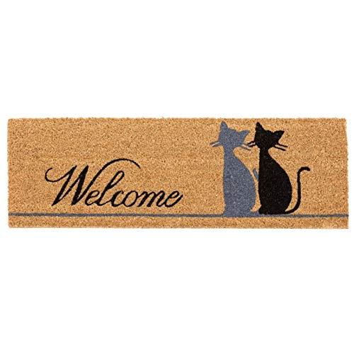 D,casa - Felpudo Original Gatos Miau Welcome 75x25