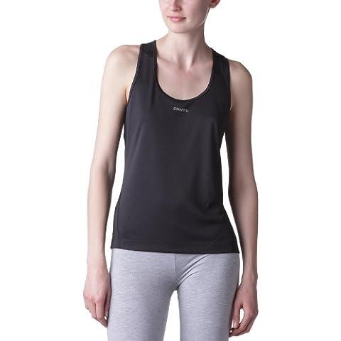Craft Craft Running Active - Camiseta sin mangas para mujer, color rosa negro negro Talla:extra-large