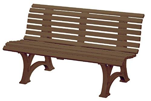 Preisvergleich Produktbild Sitzbank / Gartenbank 3er Design: Helgoland, Länge 150cm, braun (hochwertiger Kunststoff, Parkbank Made in Germany)