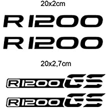 KIT 4 ADESIVI BMW R 1200 STICKER DECAL BMW R 1200 GS 20x2 cm GP-049 (Nero)