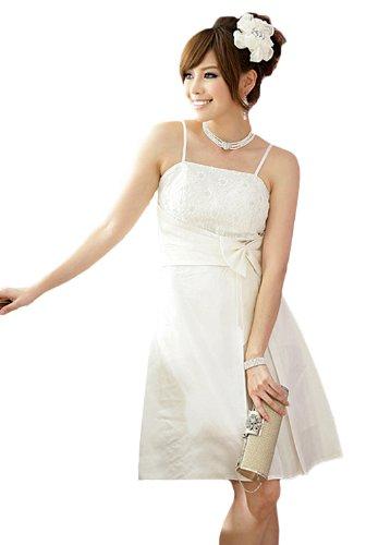 VIP Dress Robe de bal en dentelle florale Blanc