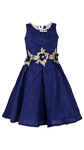 My Lil Princess Baby Girls Birthday Party wear Frock Dress_Bangalori SilkBlueN Frock_Bangalori...
