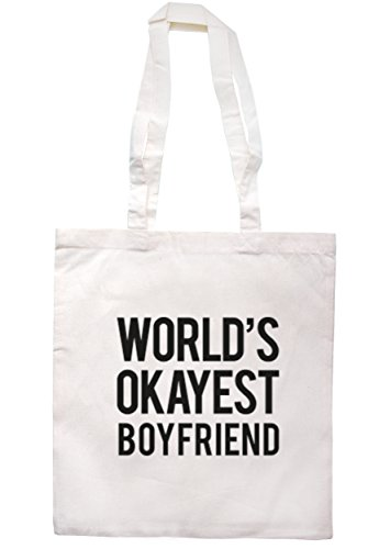 breadandbutterthreads mondo Okayest Boyfriend Borsa 37,5cm x 42cm con manici lunghi Natural