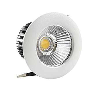 LEDIARY 55 mm agujero de corte 5 W LED Downlight redondo empotrable de techo lámparas, aislado CE fuente de alimentación, carcasa de aluminio y radiador 220 V-240 V, tres colores de iluminación