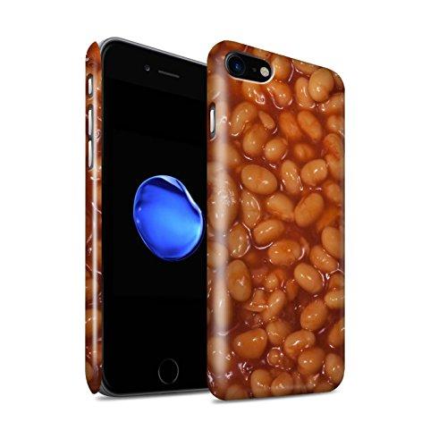 STUFF4 Glanz Snap-On Hülle / Case für Apple iPhone 8 / Grüne Bohnen Muster / Lebensmittel Kollektion Gebackene Bohnen
