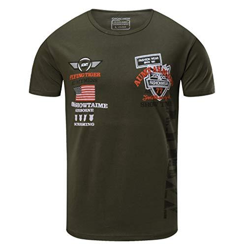 OSYARD T-Shirts Hommes à Manches Courtes 77 City Tops Blouse de Sport  Fitness Vetement fd013cb7f84