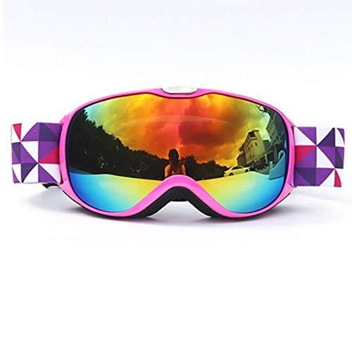 COOF Snowmobile Snowboard Skate Skibrillen mit und Weitwinkel Anti-Nebel for Jungs Jugendliche Junior Kinder Damen Frauen Männer Jungen Mädchen Skibrillen,3