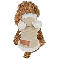 MCYs Winter Warm Padded Verdickung Nachahmung Deer Lederjacke Hund Kostüme Jacke Haustier Hunde Kleidung Hoodie Sweater Hoodies