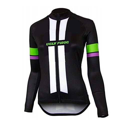 Uglyfrog Women Long Sleeve Cycling Jersey Spring Outdoor Sports Wear Triathlon Clothing UKHSLJW01