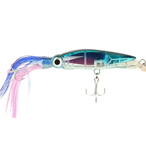 Squid Jig pesca Tackle cebo gancho Marlin atún Trolling Lure–6colores a elegir