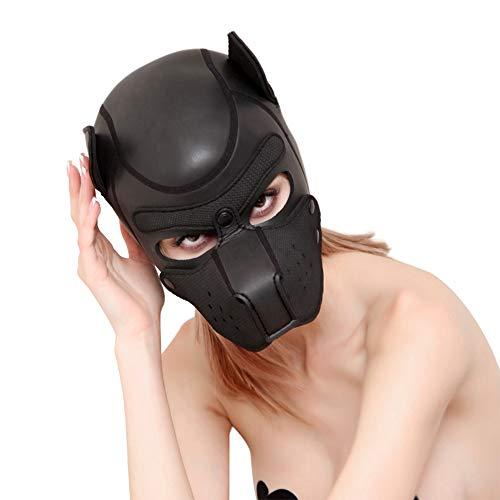 JUNMAONO Sexspielzeug Männer und Frauen die Versorgungsmaterialien bilden Sex-Liebesspielzeugrolle Hund CR-Gummihunde spielt Sexy Hund Maske Schwarze Kostüm Maske SM Maske für Rollenspiel