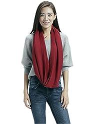 Prettystern - Loop Schal 100% Wolle einfarbig warm Schlauchschal Strick - Farbwahl