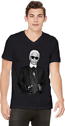Preisvergleich Produktbild KARL LAGERFELD-BW Fashion Leader Designer Mens V-neck T-shirt X-Large