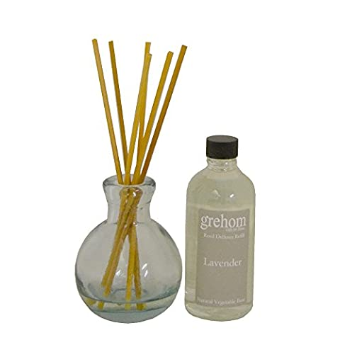 Grehom Lavender Reed Diffuser Set- Pot Belly