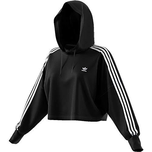 adidas Damen Cropped Hoody, Black, 36