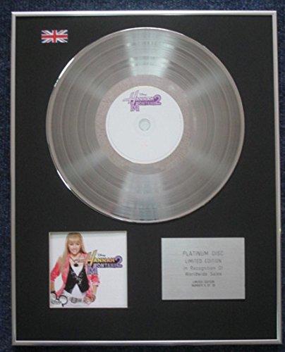 Hanna Montana-Edición limitada CD disco de platino-LP Disney Hanna Montana 2