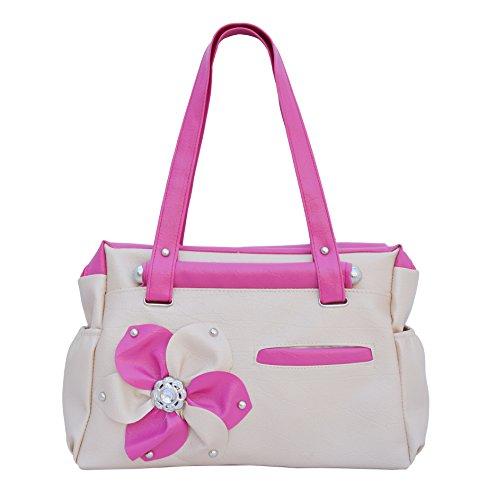 Regalovalle Women\'s Elegance Style Handbag Cream (LB-8)