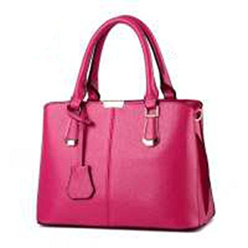 WU Zhi Onorevoli PU portatile Spalla Messenger Bag RoseRed