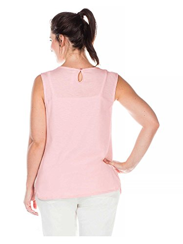 sheego Casual Donne Top Taglie Grandi Rosa