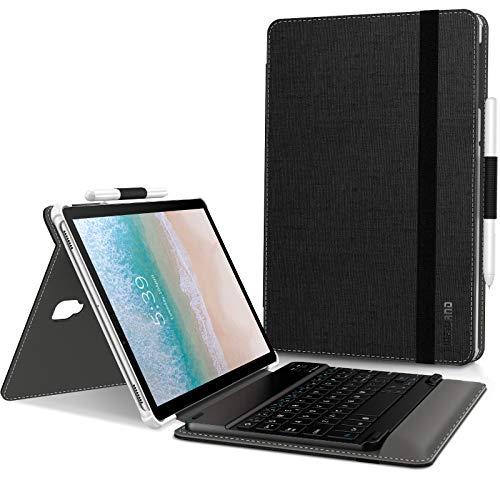 Infiland Custodia per Samsung Galaxy Tab S4 10.5 Pollice(SM-T830 Wi-Fi/SM-T835 LTE) 2018 Tablet con Bluetooth Tastiera Wireless Staccabile(Italian Tastiera,Nero)