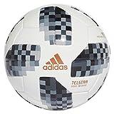 adidas Herren World Cup Mini Ball, White/Black/Silver Metallic, 1