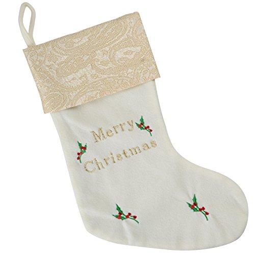 Werchristmas - calza natalizia con ricamo