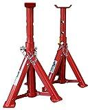 KIPPEN 1167A Coppia di Cavalletti per Auto Portata 2 TON, Grigio/Rosso/Multicolore
