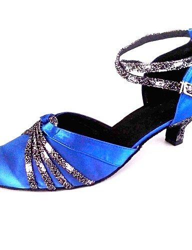 La mode moderne Sandales Femmes Chaussures sur mesure Bal personnalisées Chaussures de danse En satin Talon Haut US6.5-7/EU37/UK4.5-5/CN37