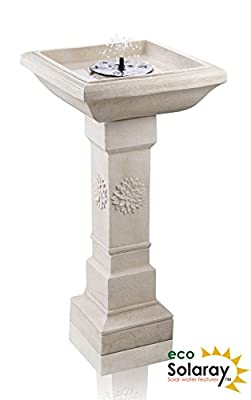 Budding Dahlia Solar Bird Bath Water Feature with Lights and Automation Function by Solaray™ from Primrose